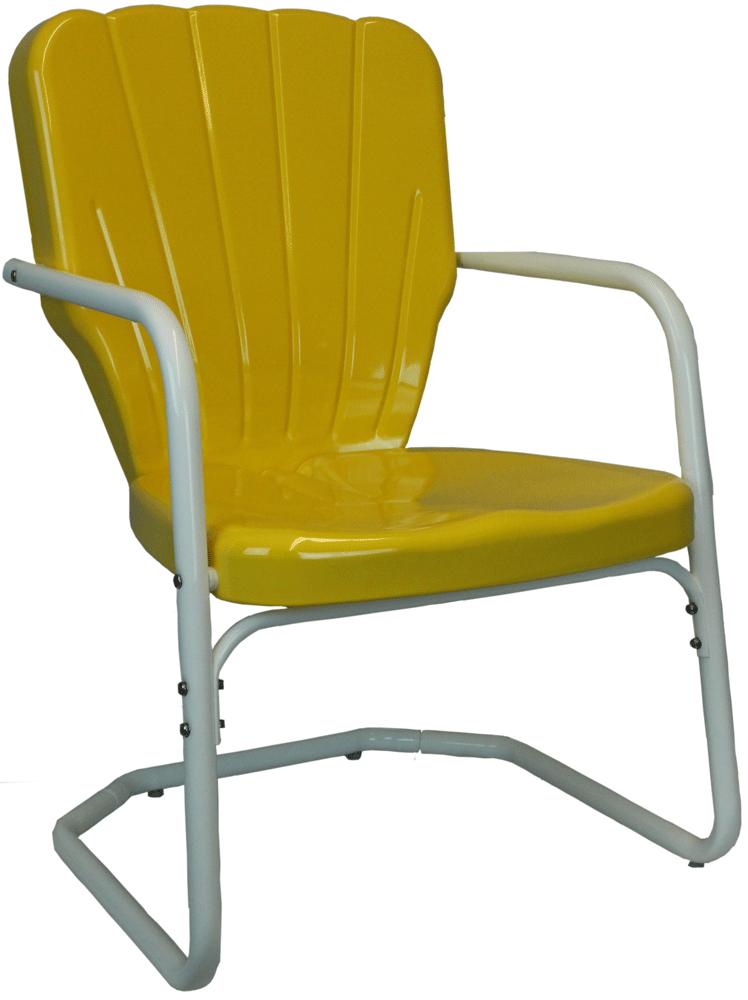 Heavy Duty Thunderbird Metal Lawn Chair Thunderbird