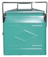 Image Embossed Picnic Cooler with Metal Liner-Aqua